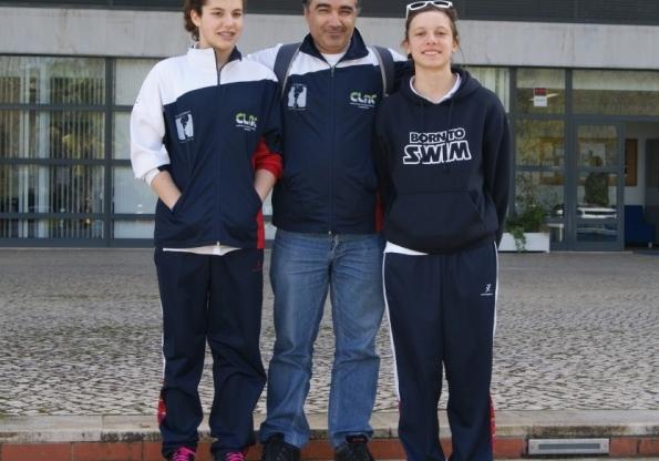 Sarah Dias e Sofia Picão entre a elite da natação juvenil