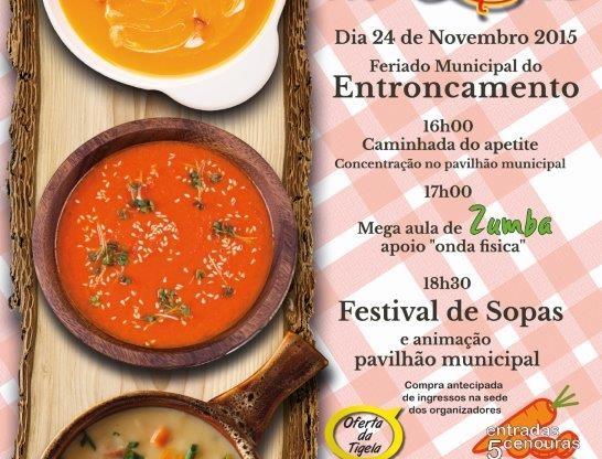 Festival de sopas é no dia 24 Novembro