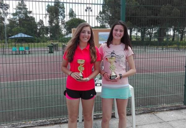 Ténis Berta Simões e Mariana Ribas na Final do Torneio de Almeirim