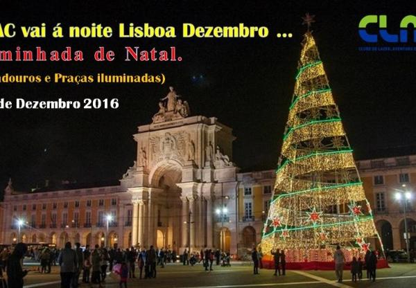 caminhada em Lisboa: praças e ruas iluminadas pelo natal