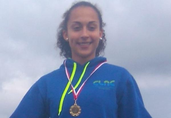 Inês Conceição do CLAC  Com bons resultados no Olímpico Jovem Nacional.