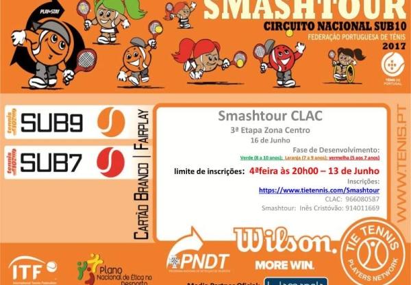 Ténis – Smashtour CLAC 2018