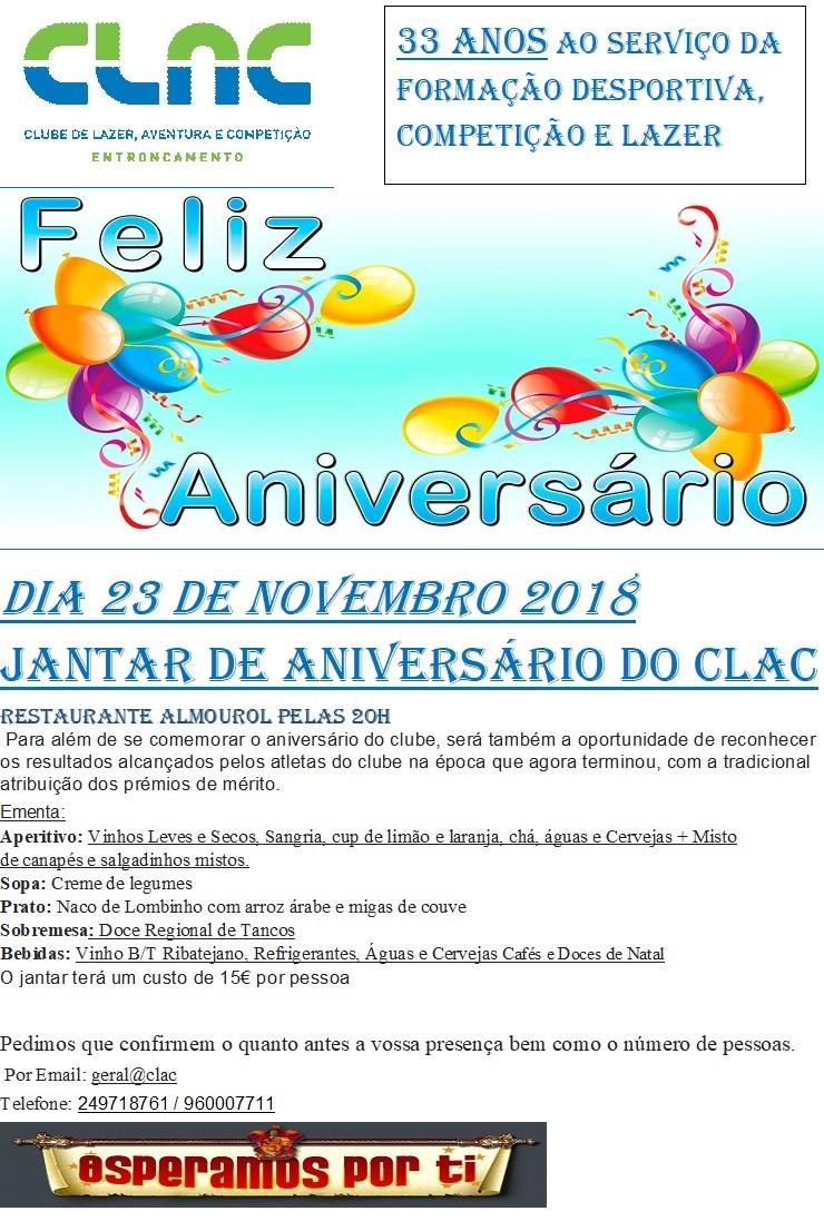 Aniversário Clac 2018