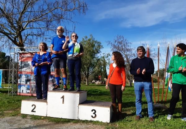 Atletas em 1º lugar no 3º Troféu Orientação Srª d' Aires 2020